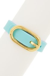 Marc By Marc Jacobs Buckle Up Silicone Bracelet Blue