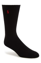 Men's Polo Ralph Lauren Crew Socks Black