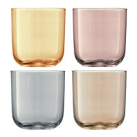 Lsa International Polka Assorted Tumblers Set Of 4 Metallic