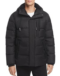 Andrew Marc New York Groton Hooded Puffer Jacket Black