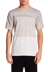 Helmut Lang Short Sleeve Two Tone Knit Shirt Beige