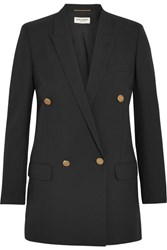 Saint Laurent Wool Gabardine Blazer Black