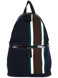 Marni Striped Backpack Blue