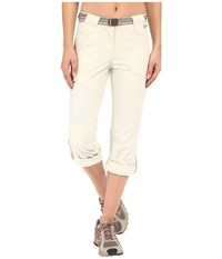 Jack Wolfskin Safari Roll Up Pants White Sand Women's Casual Pants