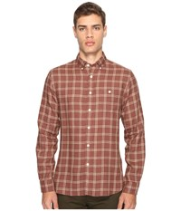 Todd Snyder Linen Windowpane Shirt Brown Men's Clothing
