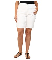 Nydj Plus Size Plus Size Briella Short Optic White Women's Shorts