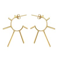 Marcia Vidal Gold Light Punk Sunshine Hoops