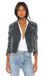 Lamarque Donna Leather Jacket In Gray. Graphite Alloy