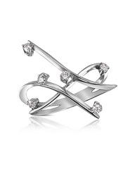 Forzieri 0.18 Ctw Diamond Cross Over Ring White Gold