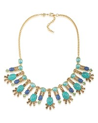 Carolee Statement Collar Necklace 18 100 Exclusive Gold Blue Multi
