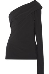 Jil Sander Balki One Shoulder Tech Jersey Top Black