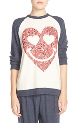 Lauren Moshi 'Buffy' Graphic Raglan Tee Navy Silk