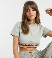 New Balance Utility Pack Cropped T Shirt In Beige Exclusive At Asos