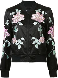 3X1 Embroidered Flowers Jacket Black