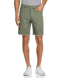Sovereign Code Niles Regular Fit Cutoff Shorts Olive
