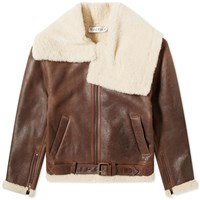 J.W.Anderson Jw Anderson Shearling Flight Jacket Brown