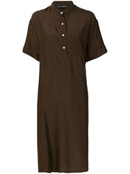 Ter Et Bantine Short Sleeve Shirt Dress Brown