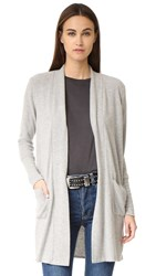 Chaser Long Slouchy Cardigan Heather Grey