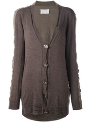 Maison Margiela Vintage Knitted Cardigan Brown