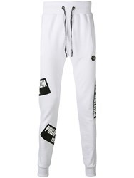 Philipp Plein Printed Track Pants White