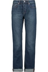 Marc By Marc Jacobs High Rise Straight Leg Jeans Mid Denim
