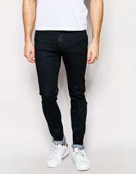 Weekday Form Super Skinny Jeans In Engine Black Washed Coated Black