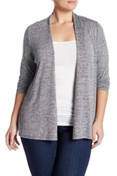 Philosophy Dane Lewis Open Front Cinched Cardigan Plus Size Gray