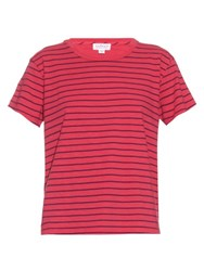 Velvet By Graham And Spencer Henni Striped T Shirt Red Stripe