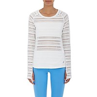 Tory Sport Women's Mesh Block Top White