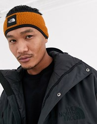 The North Face Denali Fleece Earband In Camel Brown
