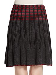 Max Studio Flippy Jacquard Sweater Skirt Black
