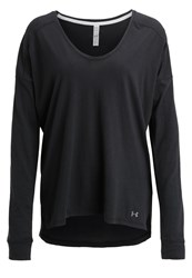 Under Armour Favorite Long Sleeved Top Black Graphite
