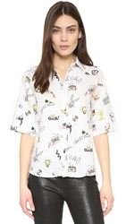 Paul And Joe Sister Looney Tunes Blouse White