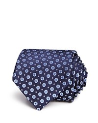 Bloomingdale's The Men's Store At Mini Floral Dot Neat Classic Tie 100 Exclusive Navy Blue