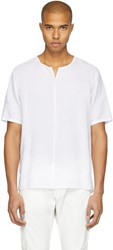 Attachment White Linen T Shirt