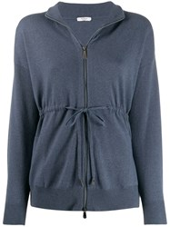 Peserico Zipped Fitted Cardigan 60