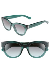Boss 50Mm Cat Eye Sunglasses Green