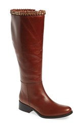 Women's Johnston And Murphy 'Sari' Knee High Boot Roast Leather