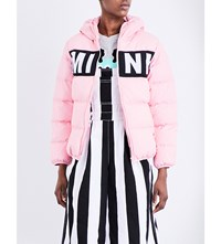 Mini Cream Respect Shell Puffa Jacket Pink