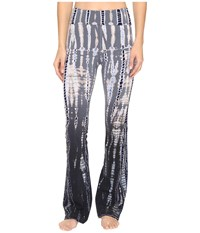 Hard Tail Rolldown Bootleg Flare Pants Lizard Ombre 1 Casual Pants Gray