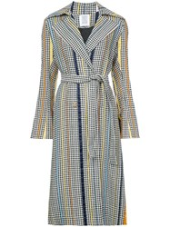 Rosie Assoulin Pied De Poule Belted Trench Coat White