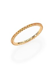 Kwiat Yellow Sapphire And 18K Yellow Gold Eternity Stacking Ring