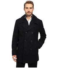 Marc New York Cushing Pressed Wool Peacoat W Removable Quilted Bib Ink Men's Coat Navy