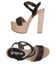 Gianmarco Lorenzi Sandals Brown
