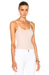 Atm Anthony Thomas Melillo Cami Bodysuit In Neutrals Pink Neutrals Pink