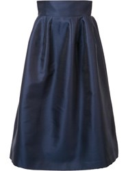 Carolina Herrera High Rise Full Skirt Blue