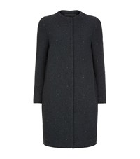 Peserico Sparkle Wool Coat Female Navy