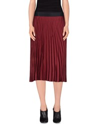 Roberto Collina Skirts Knee Length Skirts Women Maroon