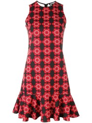Holly Fulton Floral Print Dress Red