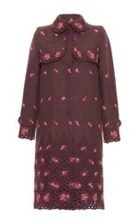 Luisa Beccaria Floral Embroidered Coat